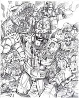 Transformers Zombies by posiongodmachine