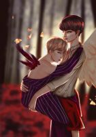 TAEKOOK - IF MY WINGS COULD FLY by kateneki