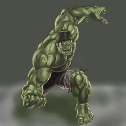 The Hulk: Digital Painting Study by SpazzStudios