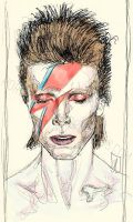 (sketch) David Bowie by EiSeNfReSsE
