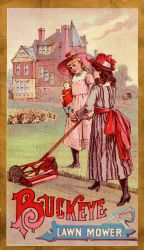 Victorian Advertising - Mower Maids by Yesterdays-Paper