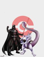 PokeWars - Darth Vader + Mewtwo by Kweh-chan