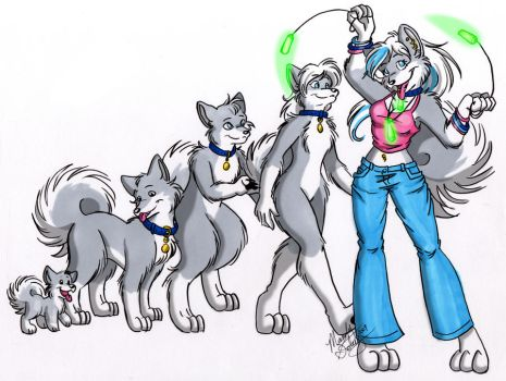 Evolution of a Furry by MandySeley