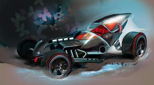 Hot Wheels Jet Fighter Rod by candyrod