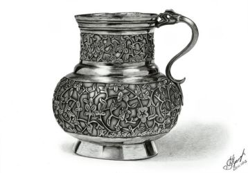 Jug in pencil. Ottoman Empire, c.1550 by Rustamova