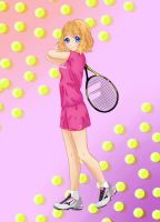 Request - Serena playing tennis by MyHeartGold