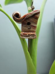 Bird house Pendant Sunday by queencymae