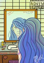 Lila In The Mirror by King-OfSalt