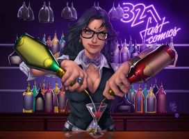 321 fast comics cover by redeve