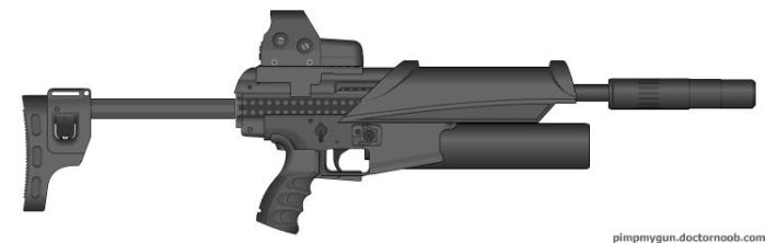 MK27 45 caliber SMG by whatdefudge