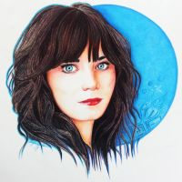 Zooey Deschanel drawing picture by OMKDrawings