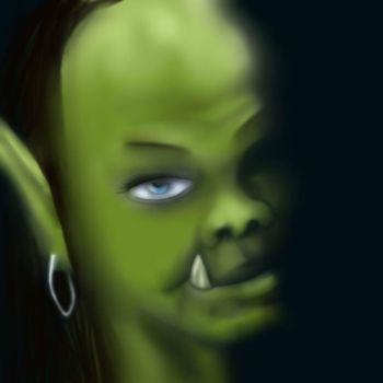Addag young orc female by roseleseach