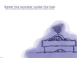 Monster over the bed by erinightwind