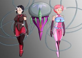 Aelita and Yumi got caught. by Hypno-Roxa