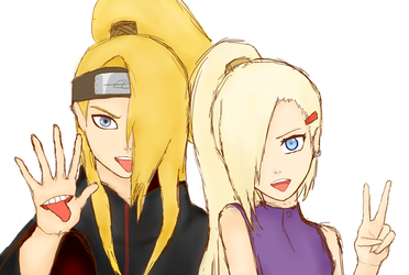 Ino Deidara : Stick out your tongue, blondie! by AkasunaJune