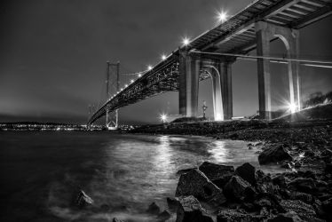 Forth Bridge Study Monochrome by BusterBrownBB