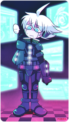 Kiibo on his activation day by Pirra