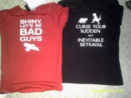 My new Serenity T-shirts from Oz comic-con by Bloodwolf-Xx