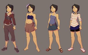 Fuyuko Casual Outfits by Ric-M