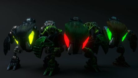 [Bionicle Heroes] Bohrok team 2/2 by MrLarions