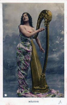 Vintage Harp By Grannysatticstock1 by Izzys-Photo-Corner