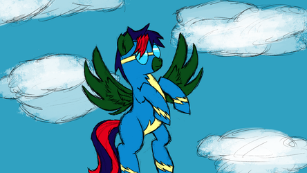 [commission] Green Flash Wonderbolt by Rainb0wDashie