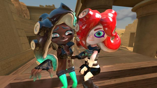 Marina and octoling by alex12357