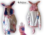 Sylveon inspired hoodie by BlakBunni