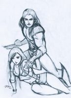 Wolverine And Tifa by nUedle