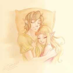 Skyward Sword: Zelda's fav pillow by Zelbunnii