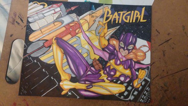 Batgirl Sketch Cover by oreopunk
