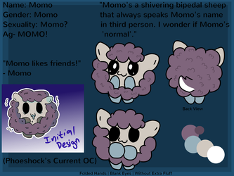 [OC Reference] Momo the Sheep by Phoeshock