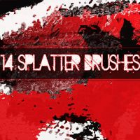 14 Splatter brushes by LW-Lucy