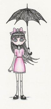 pink dress by witchyart