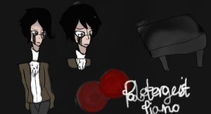 Creepypasta Original Character Poltergeist Piano by Cl0k1