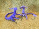 Basic Lavender and Light Purple Dragons by IsellaHowler
