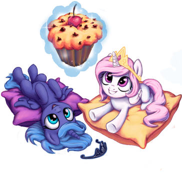 Celestia and Luna by INowISeeI