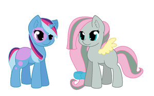 marble x Fluttershy and Twilight x Trixie by rainbowshy14