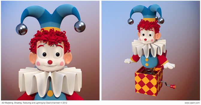 Jester 3D cartoony character by pixelbudah