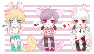 Tiny Adopt Set 1- CLOSED by Daipuu