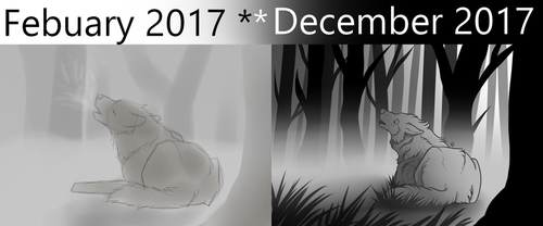 Beginning to End of 2017 by lxWingedWolfxl