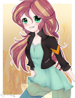 Sunset Shimmer (Equestria Girls) by wolfchen999
