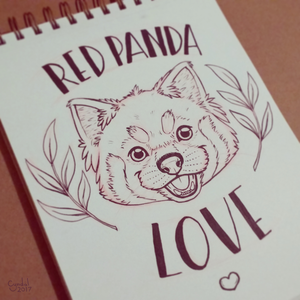 Red Panda Love by CyndalCreates