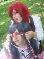 Grell x Lady ciel by ButtersAnKau