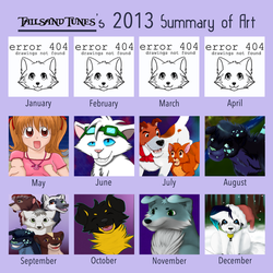 A year of art (2013) by Wonderlandawaitsus