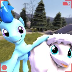 Selfie with fluffle Puff (with hud only) by DeployerfullGeek