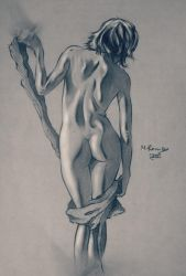 female back view figure by Xezra