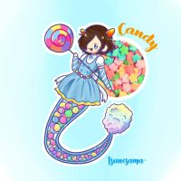 Mermay Day 28 - Candy ~ by Tsunesamaa