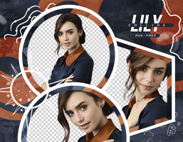 PACK PNG 186 // LILY COLLINS by DUA-PNGS