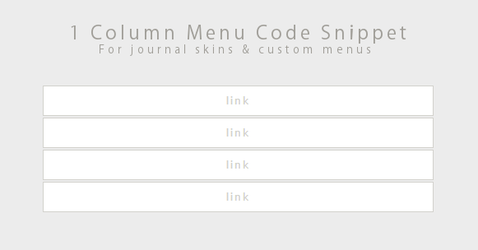 Code Snippet - 1 Column Menu by Gasara